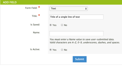 Add text form field