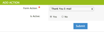 Thank You Email Form Action