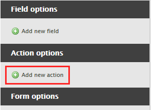 Add form action